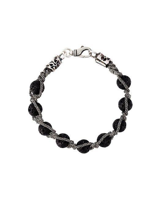 Emanuele Bicocchi - Black Lava Stone Bracelet for Men - Lyst