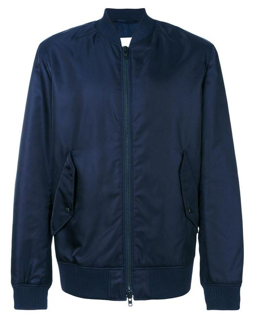 KENZO | Blue Peace World Embroidered Bomber Jacket for Men | Lyst