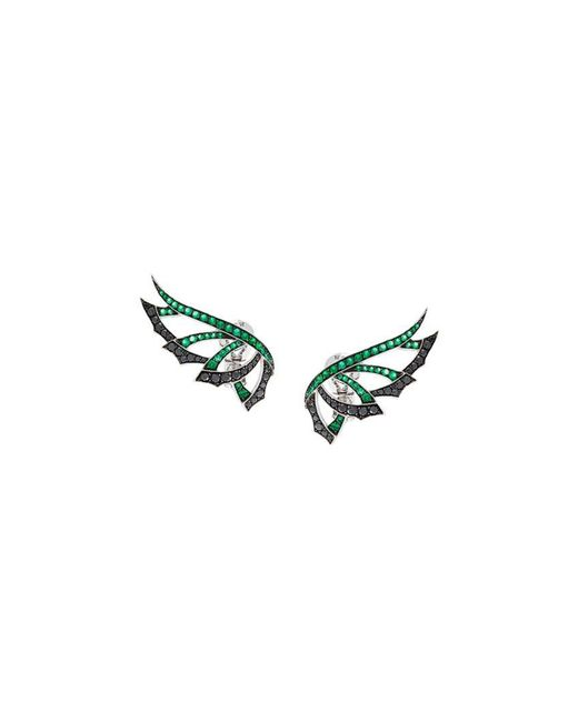 Stephen Webster - Green 'magnipheasand' Diamond And Emerald Earrings - Lyst