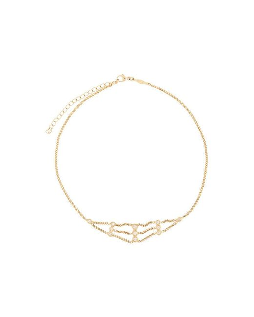 Jacquie Aiche - Metallic 14kt Yellow Gold Diamond Flat Chain Choker - Lyst