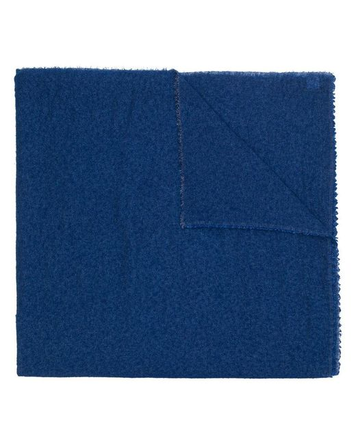 Faliero Sarti - Blue Frayed Edge Scarf - Lyst