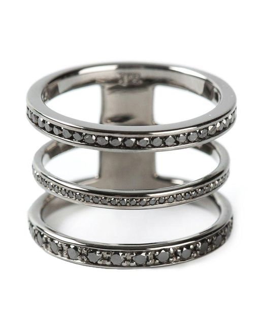 Nikos Koulis   Metallic Three In One Ring   Lyst
