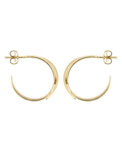 Wouters & Hendrix - Metallic 'bamboo' Hoop Earrings - Lyst
