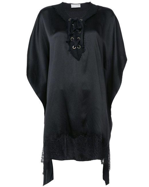 Faith Connexion - Black Lace Detail Dress - Lyst