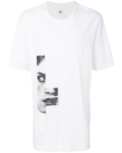 LOST & FOUND ROOMS Face printed T-shirt LC0OoS