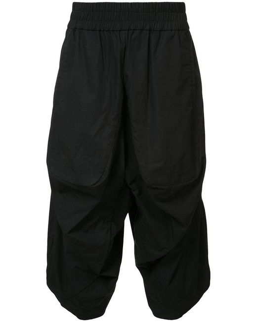 Private Stock - Black Cropped Trousers for Men - Lyst