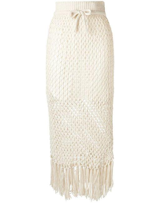 Osklen | Multicolor Knitted Midi Skirt | Lyst