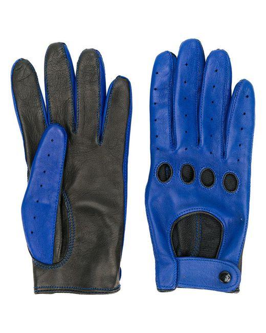 Manokhi - Blue Contrast Gloves - Lyst