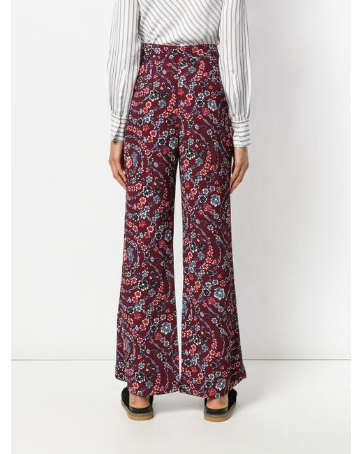 floral palazzo trousers - Pink & Purple See By Chloé
