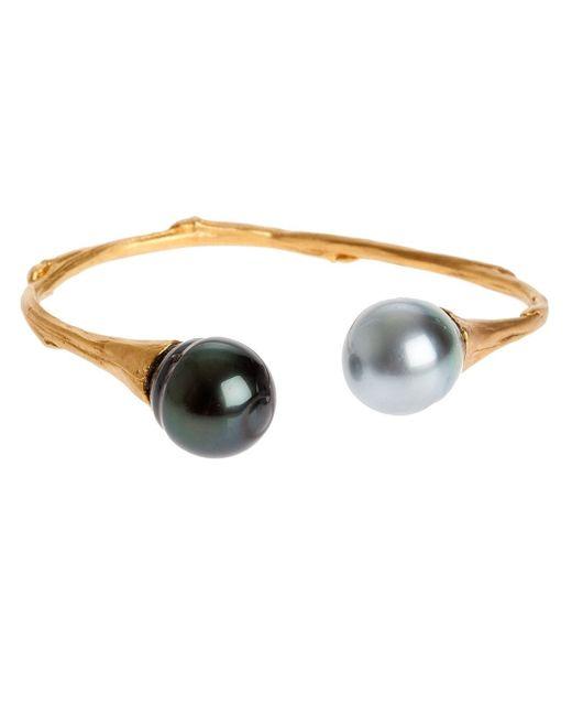 Samira 13 | Metallic Pearl Edges Bangle | Lyst