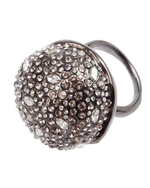 Alexis Bittar | Metallic Crystal Studded Ring | Lyst