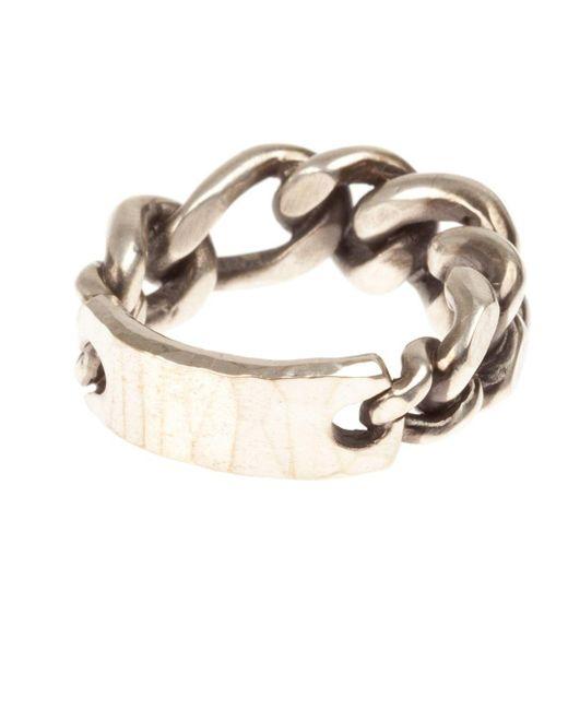 Werkstatt:münchen | Metallic Werkstatt:münchen Chainlink Ring for Men | Lyst