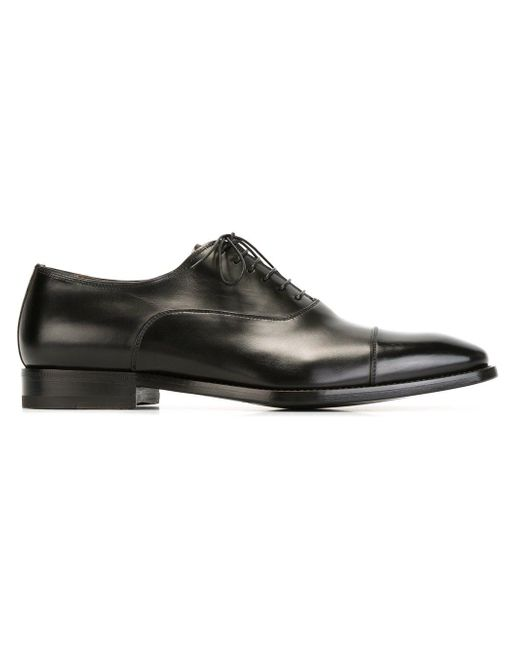 Santoni | Black Classic Oxford Shoe for Men | Lyst