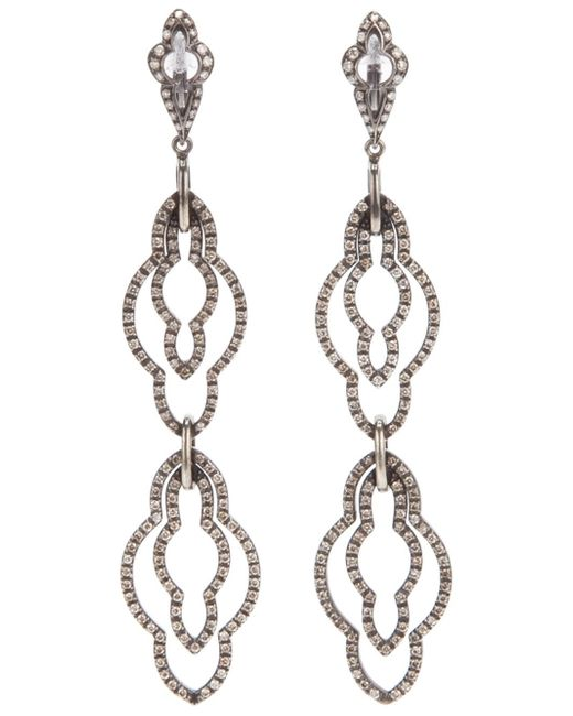 Loree Rodkin | Black Drop Diamond Earrings | Lyst