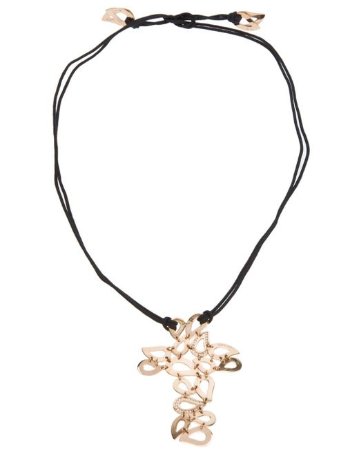 Gavello | Black Tear Drop Crucifix Necklace | Lyst