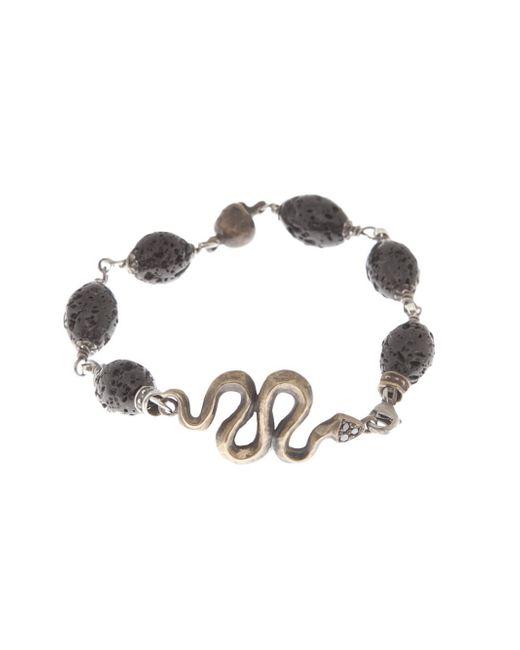Roman Paul | Black Snake Bracelet for Men | Lyst