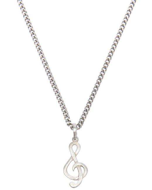 Saint Laurent | Gray Treble Clef Necklace for Men | Lyst