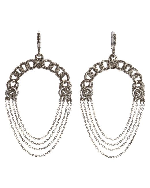 Garrard | Metallic Diamond Chain Earrings | Lyst