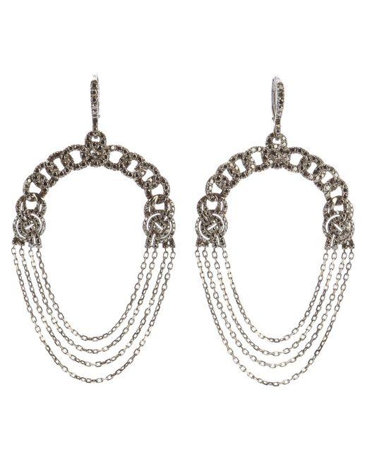 Garrard   Metallic Diamond Chain Earrings   Lyst