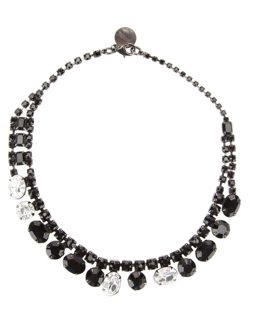 Tom Binns | Black Asymmetric Crystal Necklace | Lyst