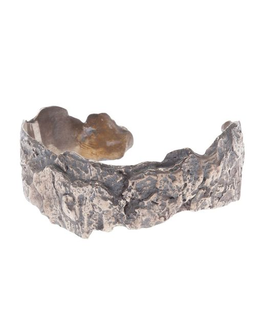 Tobias Wistisen | Metallic Wood Effect Bangle for Men | Lyst