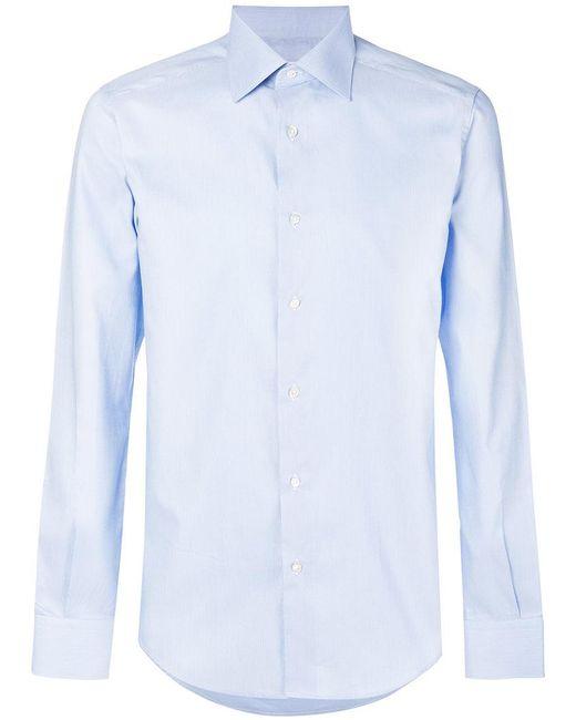Fashion Clinic Timeless - Blue Long-sleeve Shirt for Men - Lyst