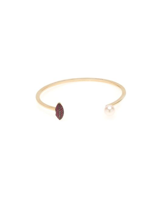 Delfina Delettrez | Metallic 'lips Piercing' Ruby Bangle | Lyst