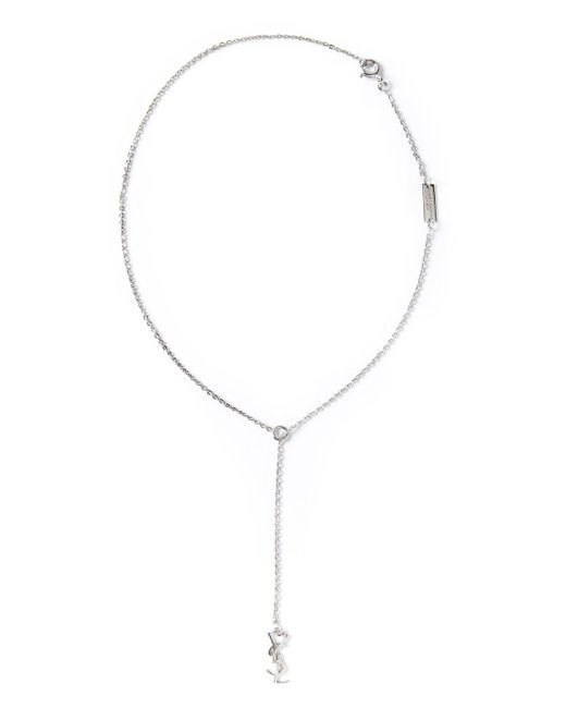 Saint Laurent | Metallic 'monogramme' Necklace | Lyst