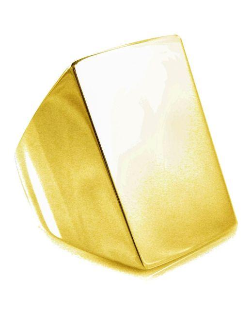 Tom Binns | Metallic 'clash' Signet Ring | Lyst