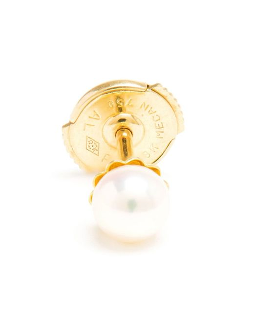 Yvonne Léon | Metallic 18kt Gold And Pearl Stud Earring | Lyst