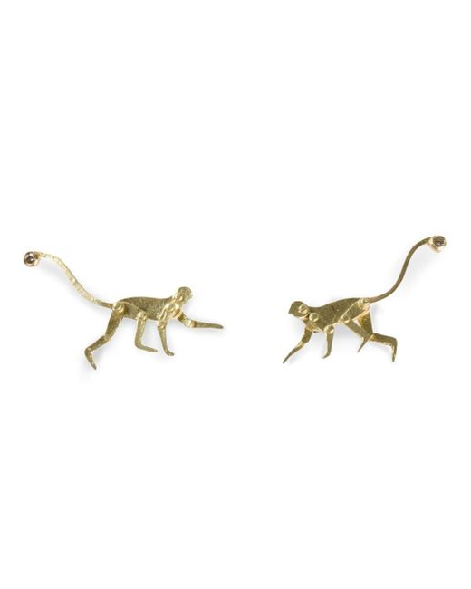 Marc Alary | Yellow Micro Monkey Stud Earrings | Lyst