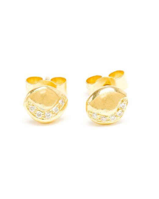 Natasha Collis   Metallic Diamond Stud Earings   Lyst