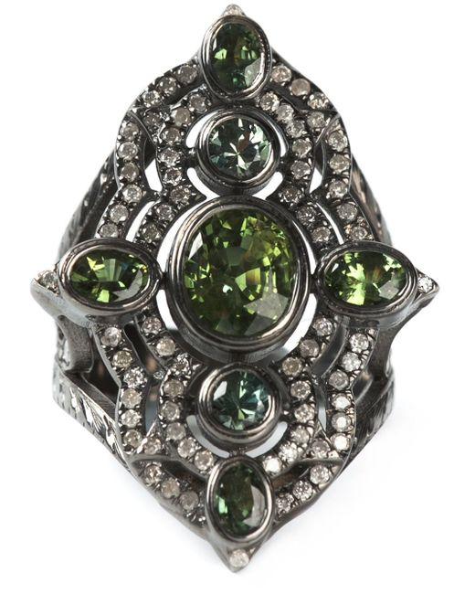 Loree Rodkin | Metallic Embellished Ring | Lyst