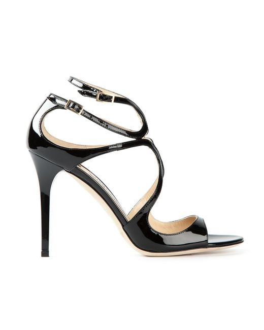 Jimmy Choo | Black Lance Sandals | Lyst