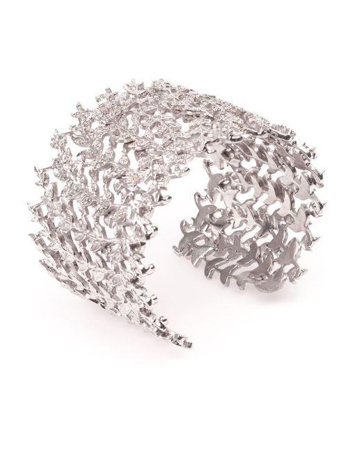 Joanna Laura Constantine | Metallic Crystal Leaf Cuff | Lyst