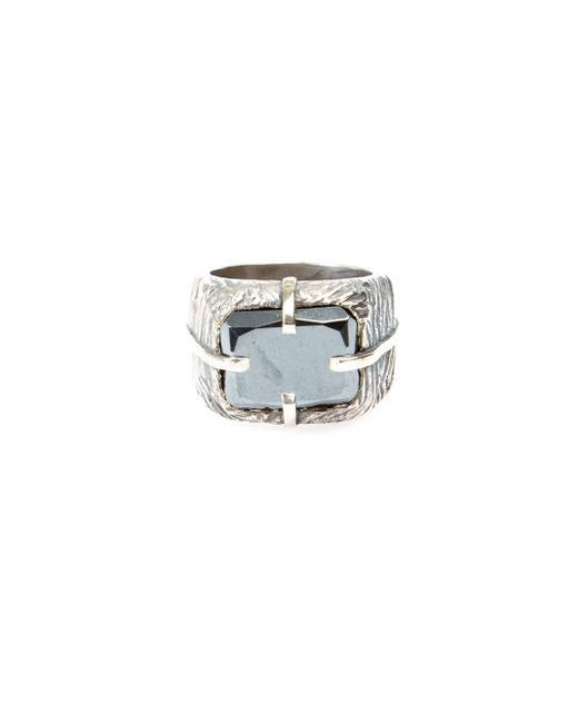 Tobias Wistisen | Metallic 'sawed Stone' Ring for Men | Lyst