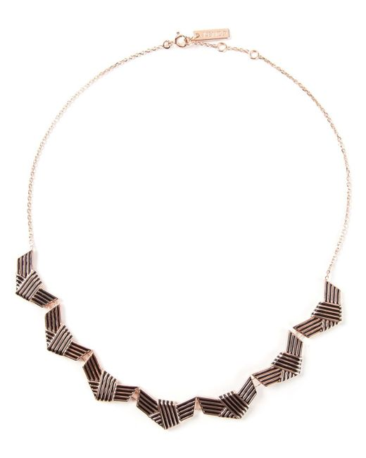 KENZO | Metallic Knotted Necklace | Lyst