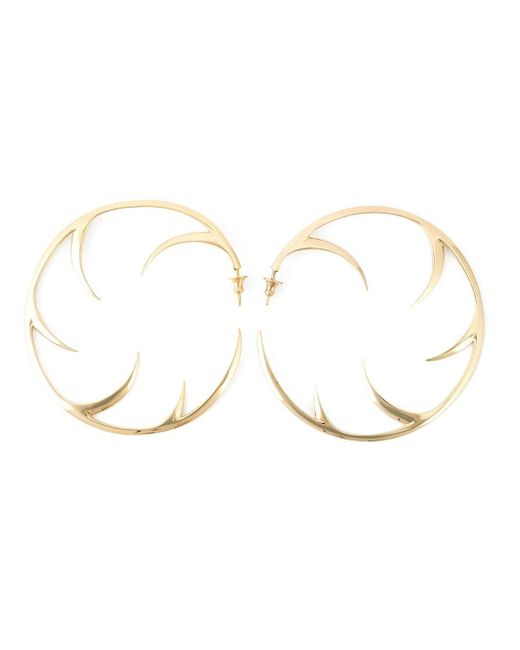 Shaun Leane | Metallic 'multi Cat Claw' Hoop Earrings | Lyst