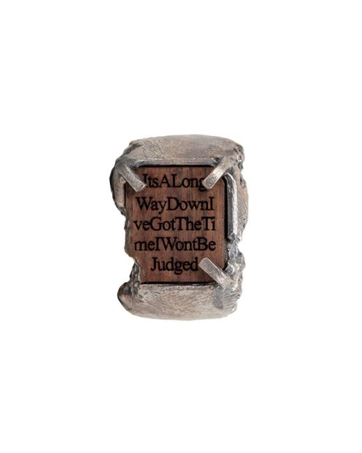 Tobias Wistisen | Metallic Carved Chevalier Ring for Men | Lyst