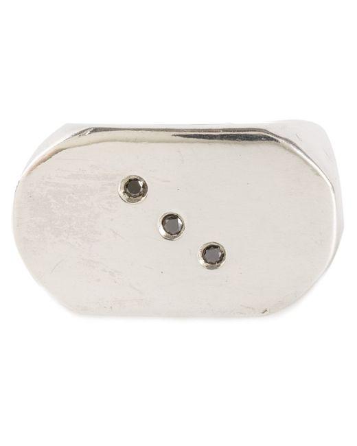 Henson | Metallic Chunky Rectangle Ring | Lyst