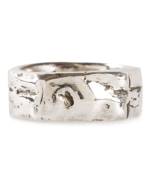 Henson | Metallic Textured Band Ring | Lyst