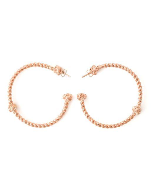 Aurelie Bidermann | Metallic 'palazzo' Hoop Earrings | Lyst