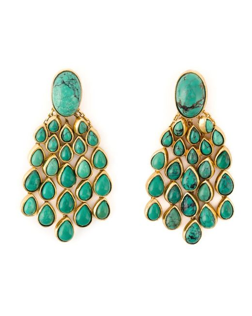 Aurelie Bidermann | Green 'cherokee' Earrings | Lyst