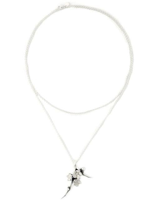 Shaun Leane | Metallic 'cherry Blossom' Diamond Long Pendant Necklace | Lyst