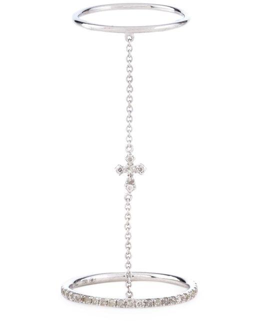 Elise Dray | Metallic Cross Link Ring | Lyst