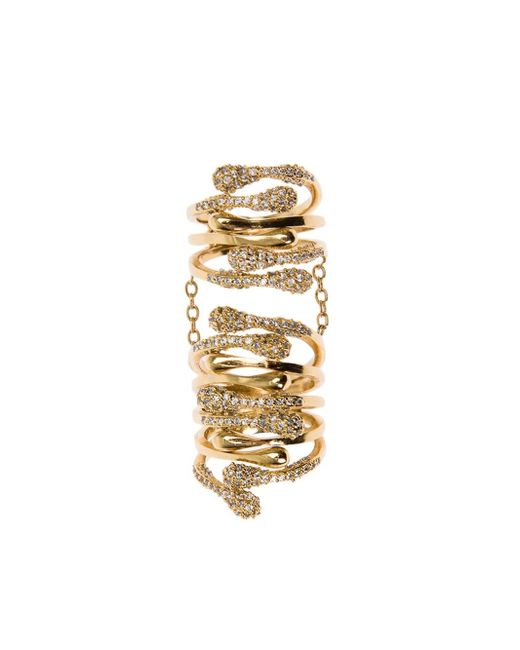 Joanna Laura Constantine | Metallic Encrusted Long Ring | Lyst