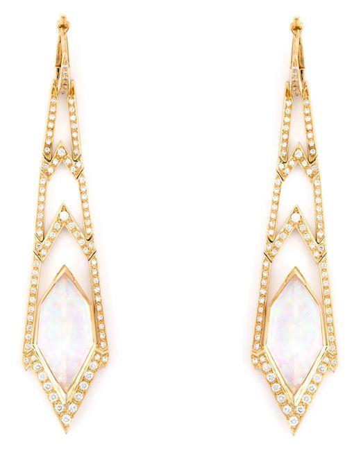 Stephen Webster | Metallic 'crystal Haze' Long Diamond Earrings | Lyst