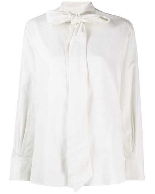 Holland & Holland White Bow Detail Shirt