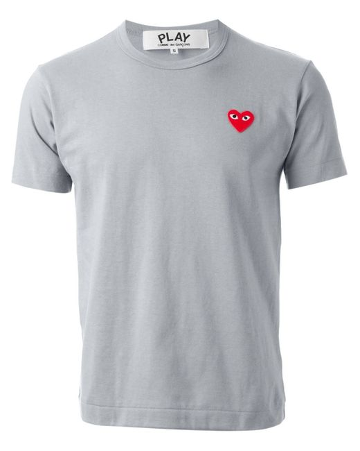 Play Comme des Garçons | Gray Heart Patch T-shirt for Men | Lyst