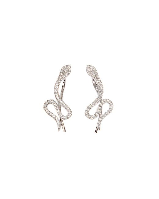 Samira 13 | Metallic Pavé Diamond Snake Earrings | Lyst
